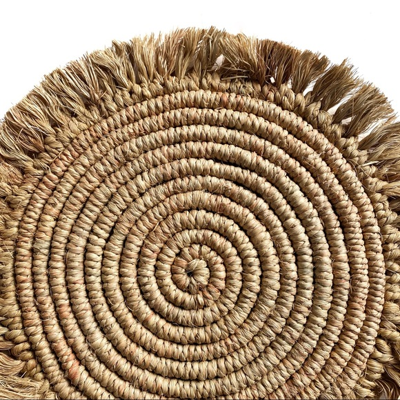 Bohemian Round Jute Placemat / Accent Wall Decor
